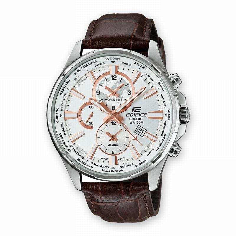 32f7e06836d Relojeria Esparza | EFR-304L-7AVUEF Reloj Casio Edifice Hombre Acero Correa  Piel