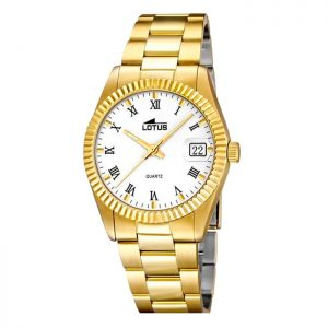 "15799/1 Reloj Lotus Hombre Chapado ""tipo Rolex"